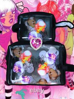 MAC Cosmetics FAFI Doll Fafinette Makeup Bag Medium NEW Acrylic Clear ONLY1