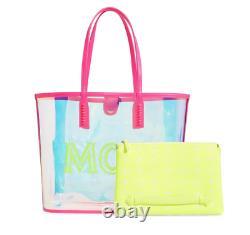 MCM Medium Flo Transparent Holographic Shopper Bag B2305