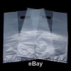 Matte Clear Plastic Packaging Bag Reusable Handle Pack Pouches for Gift Grocery