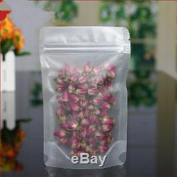 Matte Clear Plastic Stand Up Zip Bags Food Gift Lock Pouch Resealable Packaging