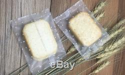 Matte Clear Printed Flat Open Top Poly Plastic Bags Nuts Cookie Vacuumed Bags