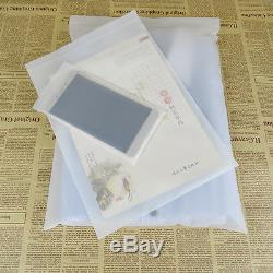Matte Clear Soft Plastic Packaging Bags Frosted Zip Lock Clothes Storage Pouches