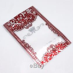 Matte Clear Stand Up Red Flower Plastic Bags Zip Lock Food Storage Pouches