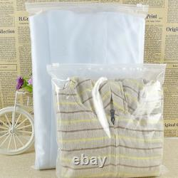 Matte Clear for Zip Clothes Self Seal Lock Plastic Bag Travel Storage Packaging