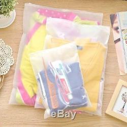 Matte Transparent Clear Plastic Storage Packaging Bag Travel Clothes Pouches