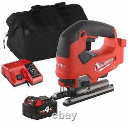 Milwaukee M18 FJS 18V FUEL Jigaw with 1 x 4Ah Battery, Charger and Bag