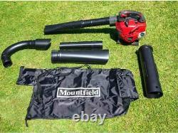 Mountfiled MBL 270V 27.6cc Petrol Leaf Blower Vaccum Garden 55L Leaf Bag