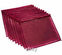 NEW 10 x CLEAR SAREE CLOTHES GARMENT SARI STORAGE BAGS WARDROBE ORGANISER MAROON