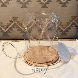NEW Building Block Clear PVC Plastic Bucket Disc Leather Bag