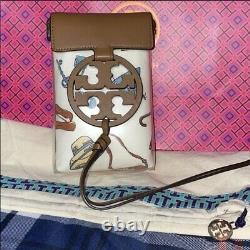 NEW Tory Burch Miller Clear Printed Phone Crossbody With Dust Bag And Gift Box