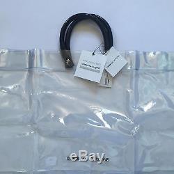 NWT Comme Des Garcons Japan Clear Vinyl Plastic Logo Large Tote Bag AUTHENTIC