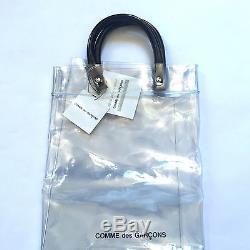 Nwt Comme Des Garcons Japan Clear Vinyl Plastic Logo Large