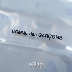 NWT Comme des Garcons JAPAN Clear CDG Logo Plastic PVC Large Tote Bag AUTHENTIC