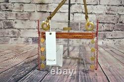 Nwt Hammitt Tony Small Clear Crossbody Handbag Zip Closure Bag