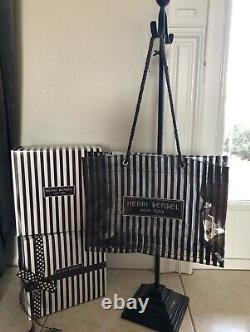 ONE MORE LEFT! NEW Henri Bendel Clear Sturdy Brown Stripe Tote Bag