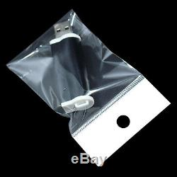 Opp Self Adhesive Clear Plastic Packaging Bag With Hang Hole Gift Craft Pouch
