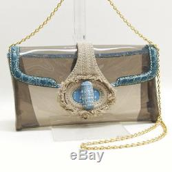 PRADA Plastics Chain Shoulder Bag Clear 1pr00162