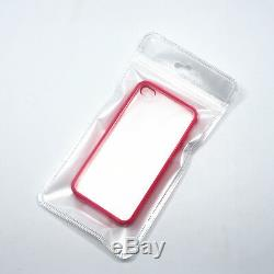 Pearl Zip Lock Plastic Packaging Bag Clear/White with Hang Hole Pouch