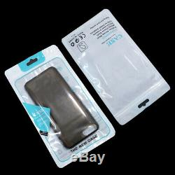 Plastic Front Clear Phone Case Zipper Bags Poly Accessaries Pouch With Hang Hole