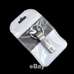 Plastic White Clear for Zip Bags Reclosable Lock Poly Jewelry Pouches Hang Hole