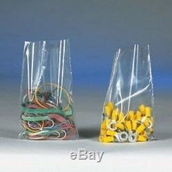 Poly Bags Flat Clear 1 Mil Open Top Plastic Transparent Bag High Clarity Layflat