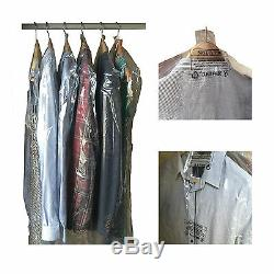 Polythene Garment Covers x 50 Clear Plastic Dry Cleaner Clothes Bags 48