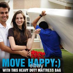 Queen Size Case Of 30 Individually Prepacked Heavy Duty Mattress Bags