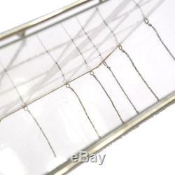 RARE! Authentic CHANEL Plastic Box Chain Shoulder Bag Grid Clear Vintage 909082