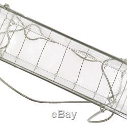 RARE! Authentic CHANEL Plastic Box Chain Shoulder Bag Grid Clear Vintage V08979