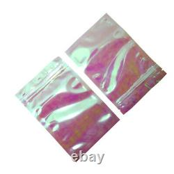 Rainbow Clear Plastic Heat Seal Bag for Zip Resealable Food Lock Coffee Pouches