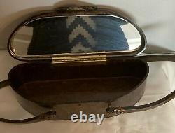 Rare Beautiful vintage 50's Wilardy brown/ grey Lucite bag collectable