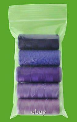 Resealable Clear Plastic Seal Zip Lock Bags Reclosable 3 x 4 4 Mil 12000 Pcs