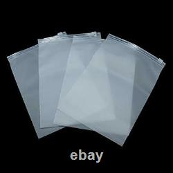 Resealable Matte Clear Plastic Zip Clothes Bags Toiletry Underwear Lock Pouches