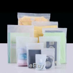 Resealable Matte Clear Plastic Zip Lock Bags Underwear Clothes Packaging Pouches