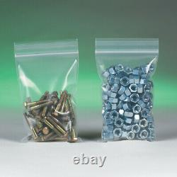 Resealable Poly Bag 3 x 4, 10000 Pack 6 Mil Clear Reclosable Plastic Baggies