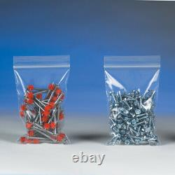 Resealable Poly Bag 9 x 9 Inch 1000 Pack, 4 Mil Clear Reclosable Plastic Baggies