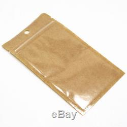Resealable Zip Lock Kraft Paper Food Packaging Bags Plastic Self Sealing Pouches