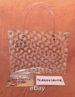 Saks Potts Transparent PVC Tote monogram print bag clear plastic summer white SP