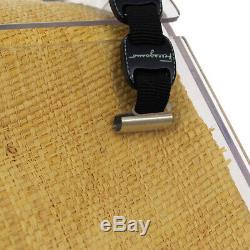 Salvatore Ferragamo Vara Hand Bag AU217245 Black Clear Plastic Canvas JT09046