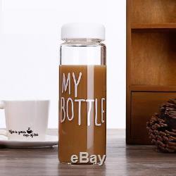 Simple Portable My Bottle Sport Plastic Fruit Juice Water Cup 500ML + Canvas Bag