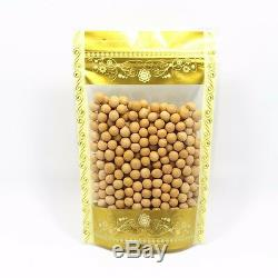 Stand Up Gold Printed Clear Zip Lock Self Seal Plastic Packaging Bag Pack Pouch