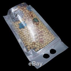 Stand Up Matte Clear Plastic Bags Ziplock Food Grade Pouch Hang Hole Transparent