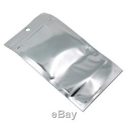 Stand Up Plastic Aluminum Foil Bags Front Clear Mylar Zip Lock Pouch with Window