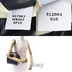 Stella McCartney Monogram Clear Chain Shoulder Bag black bags 810000113799000