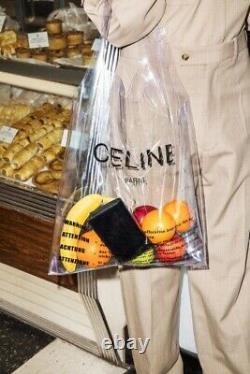 THE CELINE SOLO PVC RUNWAY 2018 CLEAR PLASTIC BAG TOTE, Phoebe Philo Icon
