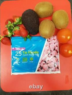 Tie Handle Food & Freezer Strong Storage Plastic Bags Sizes Medium And Large