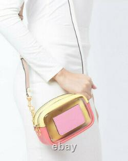 Tory Burch Perry Clear MINI BAG Crossbody Clutch with Pouch NWT Pink