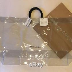 Tote Bag Comme Des Garcons Clear Vinyl Plastic Logo Large AUTHENTIC NEW Japan
