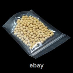 Transparent Clear Retail Plastic Stand Up for Zip Food Safe Lock Bags Pouches