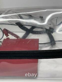 Valentino Garavani VLTN Print Transparent PVC Plastic Tote Bag Authentic